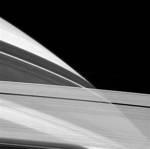 Looking up through Saturn's rings.