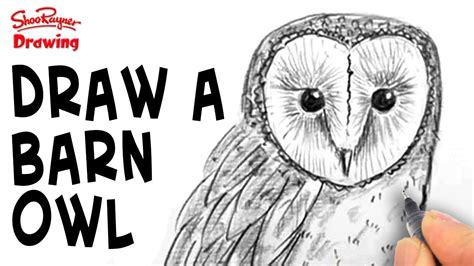 How To Draw A Barn by How To Draw A Barn Owl Spoken Tutorial