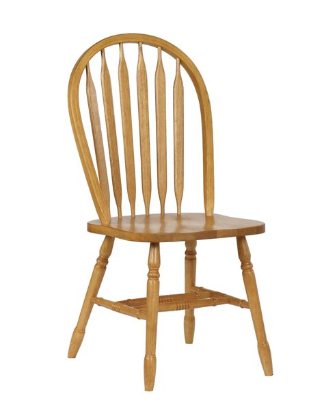 sunset trading 38 arrowback dining chair in light oak