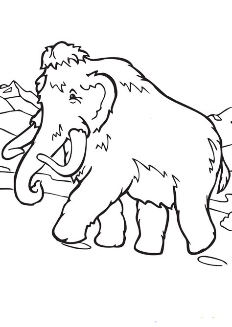 mammoth coloring pages    print