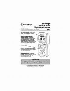 Radio Shack Digital Multimeter User Guide