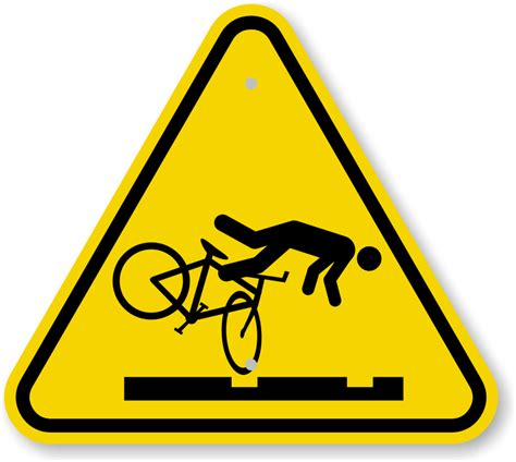 Iso Cyclist Trip Hazard Streetcar Tracks Symbol Sign. Road Triangle Uk Signs. Cardinal Signs Of Stroke. Busters Signs. Baby Teething Signs. Know Signs. Roseola Signs. International Signs Of Stroke. Subject Signs
