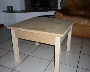 Comment Fabriquer Une Table De Ferme En Bois : fabriquer une table basse en bois astuces pratiques ~ Louise-bijoux.com Idées de Décoration