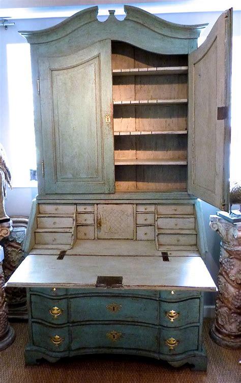 bureau turquoise an 18c rococo turquoise bureau bookcase stock