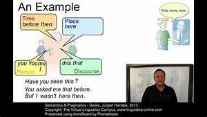 Semantics And Pragmatics - Deixis
