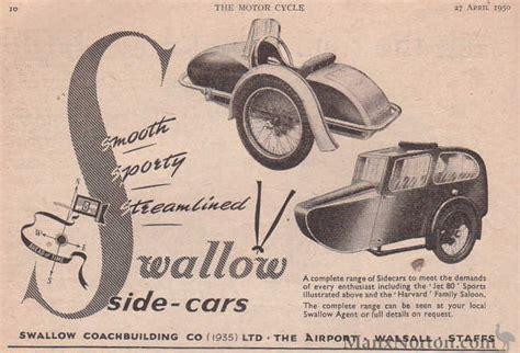 swallow sidecars  advert