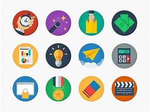 30+ Popular Flat Icons for Your Creative Design