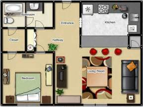 1 Bedroom House Floor Plans One Bedroom Apartment Floor Plan One Bedroom Apartment Layouts 1 Bedroom Cabin Floor Plans