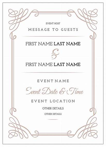 Invitation Card Template Scroll Cards Templates Maker