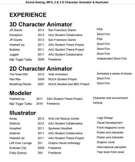 Animation Resume by Box Animation Resume