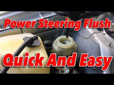 diy power steering flush   minutes link  mightyvac