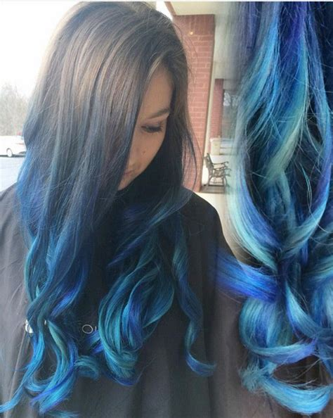 beautiful blue ombre colors  styles popular haircuts