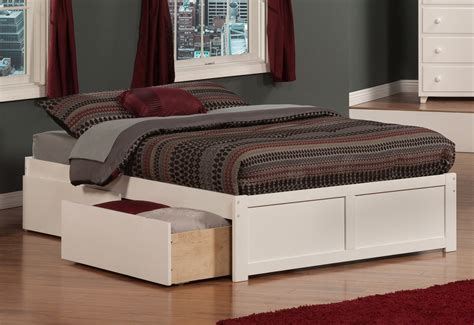Bedroom Mattress Foundation With Drawers Elevated Platform