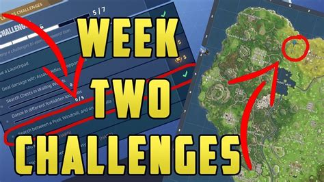 fortnite week 2 challenges how to find the fortnite week 2 battle location