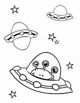 Coloring Spaceship Printable sketch template