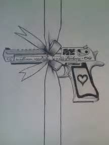 Desert Eagle Gun Tattoo Designs