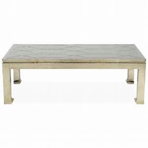 jodie hollywood regency german silver rectangular coffee table With silver rectangle coffee table