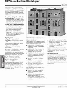 Siemens Switch 480v Users Manual Ssg Ch04  50 57  Page 50