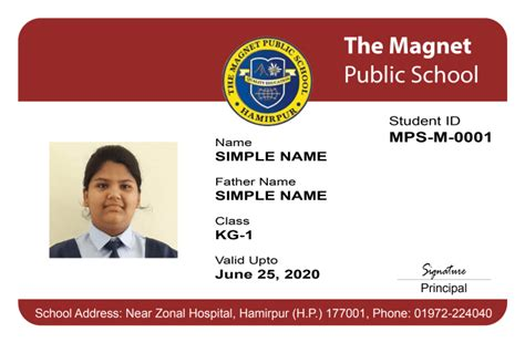 government employee id card design