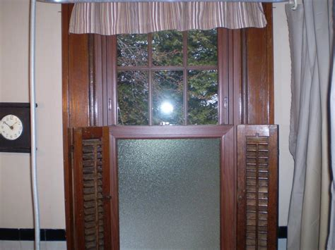 double hung windows cherry finish obscure glass installation