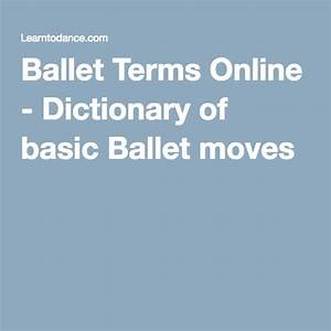 Ballet Dictionary