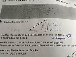 Dreieck Berechnen Rechtwinklig : rechtwinkliges dreieck berechnen sie die seite a aus b bei aufgabe 66 mathelounge ~ Themetempest.com Abrechnung