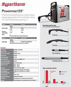 Hypertherm Powermax 125 W  Cpc 25ft Hand Torch Pkg For Sale
