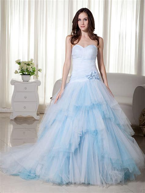 wedding dresses light blue buy sweetheart drop waist wedding dress