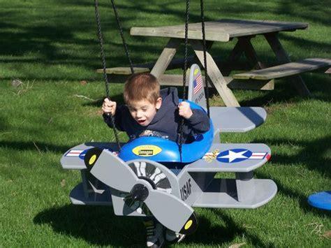 wood usaf navy bi plane swing   airplane stroller