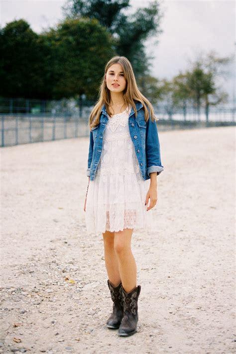 Match with Denim - 10 Ways to Wear Cowboy Boots ... u2026