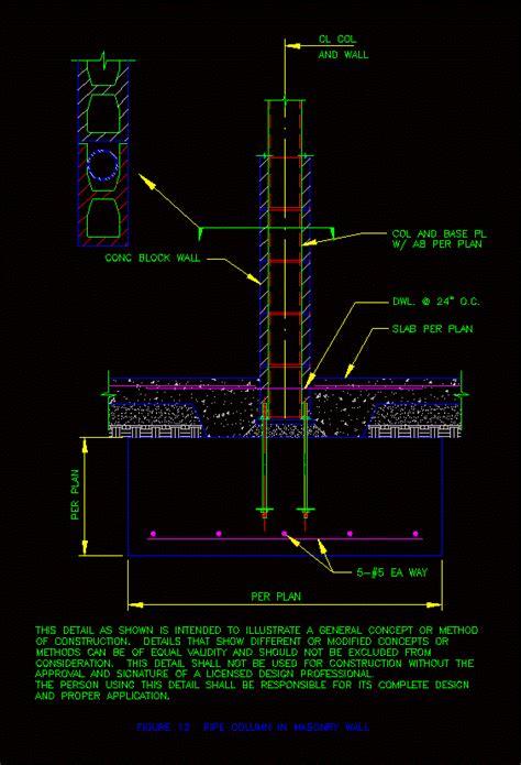 prefabricated column detail anchor dwg detail