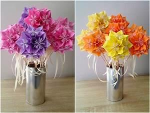 Fleur En Origami Facile : diy bouquet de fleurs en origami ~ Farleysfitness.com Idées de Décoration