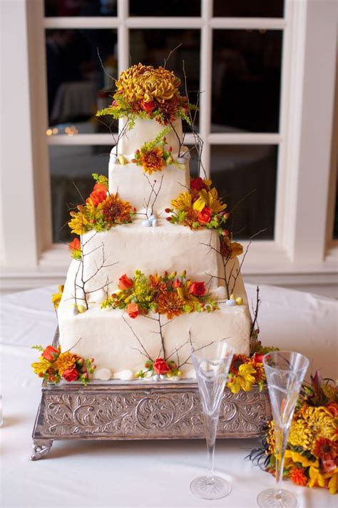 fall wedding cakes rustic wedding chic