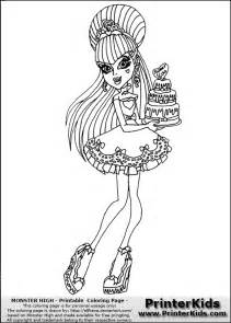Monster High Draculaura Coloring Page