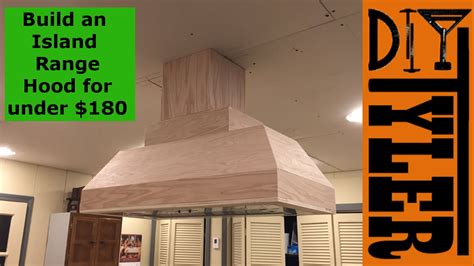 Above Kitchen Cabinets Ideas - build an island range hood for under 180 027 youtube