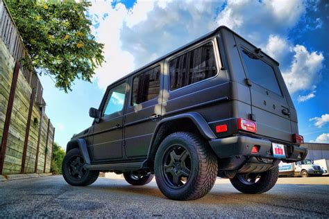 This mercedes benz wagon amg g55 wrapping military green matte from 3m by atmosphere performance and dipped in black matte with new black 2015 mercedes g63 amg ~black ~black designo 24 savini wheels black brush guards navigation dynamic seating designo interior heated. Matte Black G Wagon - Mercedes G55 AMG - Black Powder ...