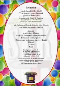 Repas De Paques Traditionnel : traditionnel repas dansant de p ques dingus polonia ~ Melissatoandfro.com Idées de Décoration