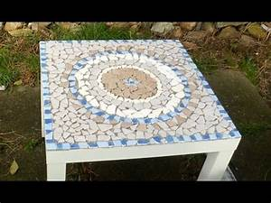 Mosaik Selber Fliesen Auf Altem Tisch : diy mosaiktisch aus fliesenresten mandala ooffenbar ~ Watch28wear.com Haus und Dekorationen
