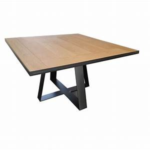 Table de salle a manger carree tolbiac rallonges deco for Table carree salle a manger