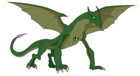 Ben 10 Alien Force Dragon By Zimonini On Deviantart