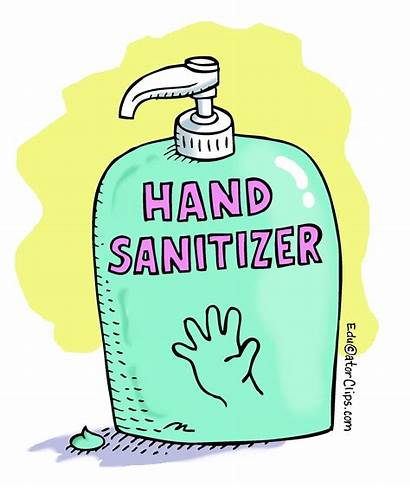 Sanitizer Hand Clip Clipart Drawing Bottle Washing