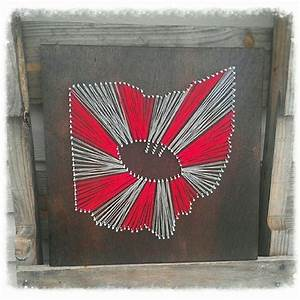 made to order ohio state string art ohio state football With ohio state letter art