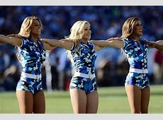 NFL Cheerleaders Celebrate Veteran's Day Salute to Service