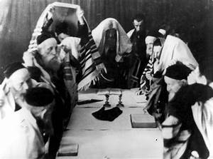 October 1940, Jews at prayer on Yom Kippur (Day of ...