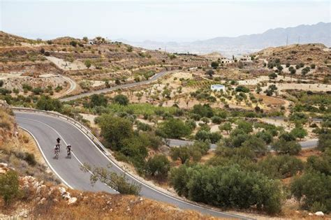 plain spain cyclist andalusia ride hills into