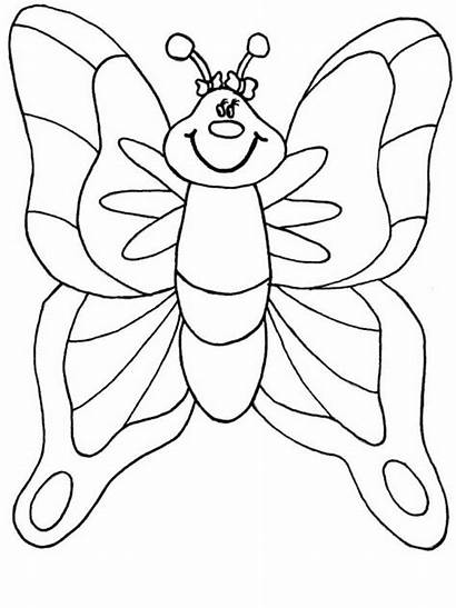 Coloring Pages Sheets Butterfly Preschool Spring Animal