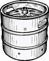 Keg Clker Clip Clipart Beer sketch template