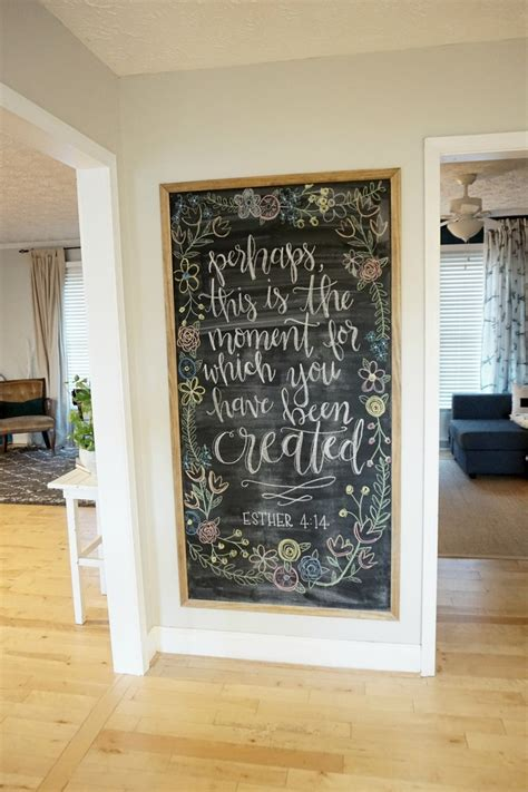 Decorating Ideas For Uneven Walls by 12 Affordable Ideas For Large Wall Decor Chalkboard