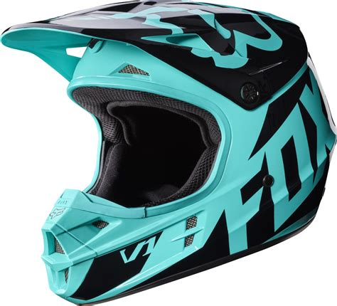 fox motocross 2017 fox v1 race motocross helmet aqua 1stmx co uk
