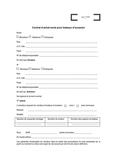 Lettre Type De Vente De Voiture Entre Particulier by Contrat De Vente T 233 L 233 Chargement Gratuit Documents Pdf